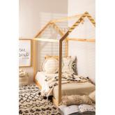 Cama de madeira para colchão de 90 cm obbit kids, imagem miniatura 1