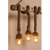 Candeeiro pendente de madeira savy, imagem miniatura 3