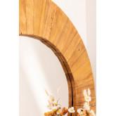 Espelho de parede redondo em madeira reciclada (Ø100 cm) Rand, imagem miniatura 4