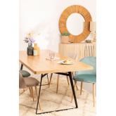 Espelho de parede redondo em madeira reciclada (Ø100 cm) Rand, imagem miniatura 6