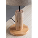 Candeeiro de mesa em linho e madeira Ulga, imagem miniatura 4