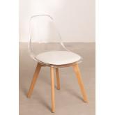 Cadeira de jantar nórdica transparente, imagem miniatura 2