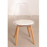 Cadeira de jantar nórdica transparente, imagem miniatura 3