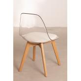 Cadeira de jantar nórdica transparente, imagem miniatura 5