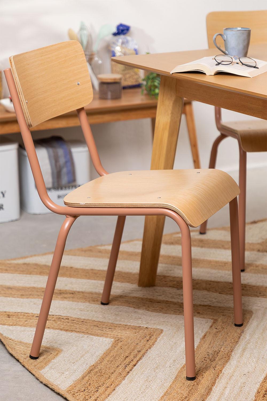 Cadeira em MDF e Aço Shatys, imagem de galeria 1