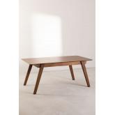 Mesa de jantar extensível de nogueira (150-180x90 cm) Aliz, imagem miniatura 3