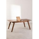 Mesa de jantar extensível de nogueira (150-180x90 cm) Aliz, imagem miniatura 4