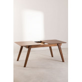 Mesa de jantar extensível de nogueira (150-180x90 cm) Aliz, imagem miniatura 5