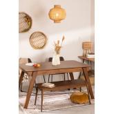Mesa de jantar extensível de nogueira (150-180x90 cm) Aliz, imagem miniatura 1