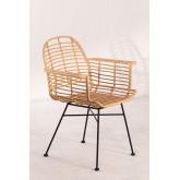 Cadeira de jantar no estilo Mimbar de Rattan Sintético, imagem miniatura 2