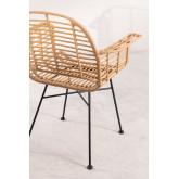 Cadeira de jantar no estilo Mimbar de Rattan Sintético, imagem miniatura 3