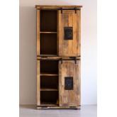 Guarda-roupa com 2 portas deslizantes em madeira Uain, imagem miniatura 2