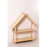 Prateleira infantil Zita com 2 prateleiras de madeira, imagem miniatura 2
