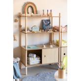 Prateleira infantil com armazenamento e 2 prateleiras de madeira Tulia Kids, imagem miniatura 1