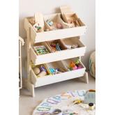 Gabinete organizador de brinquedos de madeira Yerai Kids, imagem miniatura 1