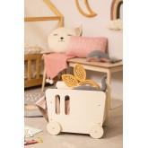 Carrinho para crianças com armazenamento de madeira Zac Kids, imagem miniatura 1