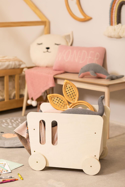 Carrinho para crianças com armazenamento de madeira Zac Kids, imagem de galeria 1
