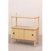 Tulia Kids Wood Shelf com armazenamento e prateleira, imagem miniatura 2