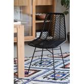 Cadeira de jantar Gouda Colors Sintética de Rattan, imagem miniatura 1