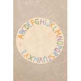 Tapete redondo de algodão (Ø104 cm) com letras infantil, imagem miniatura 2