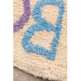 Tapete redondo de algodão (Ø104 cm) com letras infantil, imagem miniatura 4