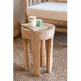 Mesa lateral de madeira Dery, imagem miniatura 1