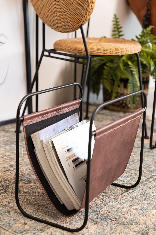 Cayna Leather Magazine Rack , imagem de galeria 1