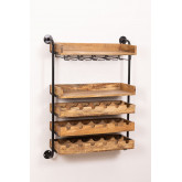 Wenni Wood Wall Wine Rack, imagem miniatura 1