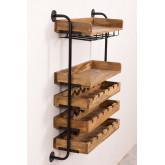 Wenni Wood Wall Wine Rack, imagem miniatura 3