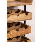 Wenni Wood Wall Wine Rack, imagem miniatura 5