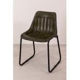Cadeira de jantar de couro Kindia, imagem miniatura 2