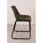 Cadeira de jantar de couro Kindia, imagem miniatura 3