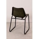 Cadeira de jantar de couro Kindia, imagem miniatura 4