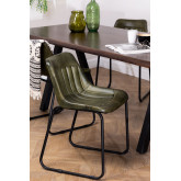 Cadeira de jantar de couro Kindia, imagem miniatura 1