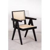 Cadeira de madeira Lali com braços, imagem miniatura 2
