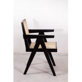 Cadeira de madeira Lali com braços, imagem miniatura 3