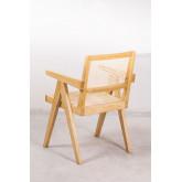 Cadeira de madeira Lali com braços, imagem miniatura 4