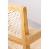 Cadeira de madeira Lali com braços, imagem miniatura 5