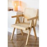 Cadeira de madeira Lali com braços, imagem miniatura 1