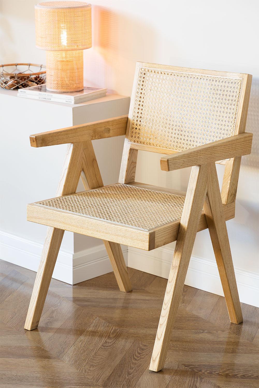 Cadeira de madeira Lali com braços, imagem de galeria 1