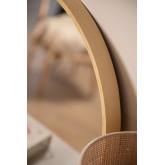 Yiro Wood Round Mirror, imagem miniatura 5