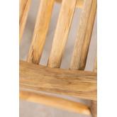 Banco de jardim baixo de madeira de teca Narel, imagem miniatura 5