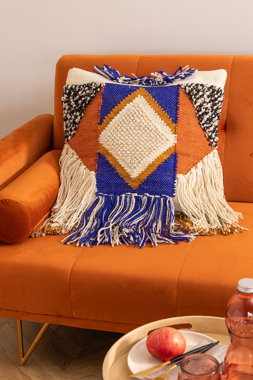 Capa de almofada de algodão e juta Ivum, imagem de galeria 1