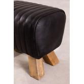 Tamborete baixo em couro Finda, imagem miniatura 4