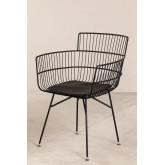 Cadeira de metal com braços quadrados, imagem miniatura 2