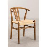 Cadeira de jantar de madeira retro Uish, imagem miniatura 2