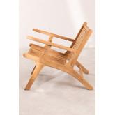 Poltrona de jardim com braços de madeira Caima , imagem miniatura 3