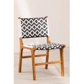 Cadeira de jardim em madeira teca Vana , imagem miniatura 2