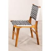 Cadeira de jardim em madeira teca Vana , imagem miniatura 3