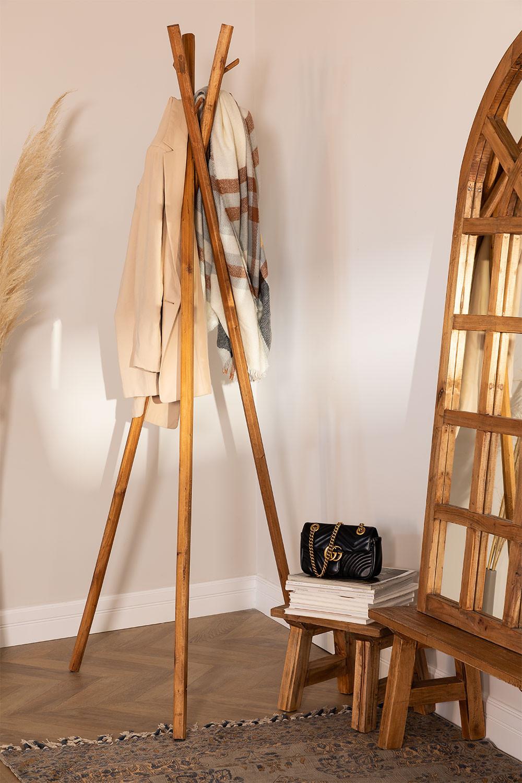 Cabide de madeira reciclada Varah, imagem de galeria 1